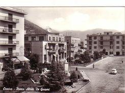CASSINO-FROSINONE-PIAZZA ALCIDE DE GASPERI-CARTOLINA VERA FOTOGRAFIA VIAGGIATA IL 30-06-1962 - Frosinone