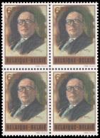 Belgium 2047** X 4 Joseph Lemaire  MNH - Belgium