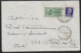 STORIA POSTALE REGNO - BUSTA ESPRESSO DA FERRARA 13.03.1943 PER RIVA SUL GARDA - Marcophilia