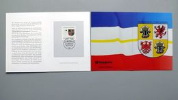 """Deutschland Erinnerungsblatt """"Wappen Der Länder - Mecklenburg-Vorpommern"""" Mit Bund 1664 ET Schwerin - Storia Postale"""