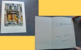 Peintre JAPON, Takanori OGUISS, MIJOKO, Carte Autographe 1963 ; Ref 236 VP 37 - Autographes