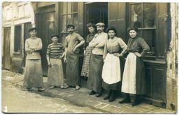 27 QUILLEBEUF-sur-SEINE ++ Boulangerie HERPIN Grande Rue En 1913 ++ Carte Photo RARE - Autres Communes