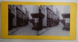 Pas Troyes, Ville Non Située ? - Une Rue Commerçante- Vers 1890 - Photos Stéréoscopiques