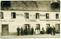 27 QUILLEBEUF-sur-SEINE ++ Hôtel De La Marine P. CORBEL ++ Carte Photo RARE - Autres Communes