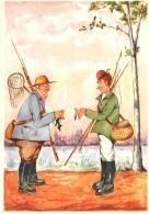 [DC11091] CPA - HUMOR - PESCATORE - Non Viaggiata - Old Postcard - Humor