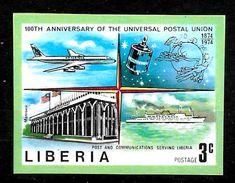 LIBERIA  N° 634  * *    NON DENTELE  Upu  Poste Bateaux Avions Satellites - Avions
