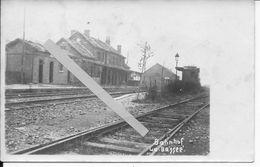 Nord 1915 La Bassée La Gare Les Voies Du Chemin De Fer 1 Carte Photo Ww1 1914-1918 - War, Military