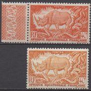 AFRIQUE  EQUATORIALE  FRANCAISE  N°210__NEUF*  VOIR  SCAN (deux Teintes) - A.E.F. (1936-1958)