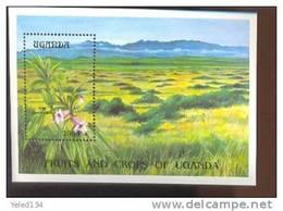 UGANDA  1209  MINT NEVER HINGED SOUVENIR SHEET OF FLOWERS - ORCHIDS - Végétaux