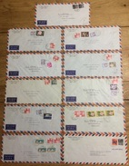 Japan 1961, 11 Airmail Covers - Luchtpost