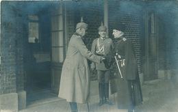 681/25 - Carte PHOTO Guerre 14/18 - Manuscrit : Hindenburg Et L' Hetman D'Ukraine Skoropadsky (1918) à La Gare De SPA - WW I