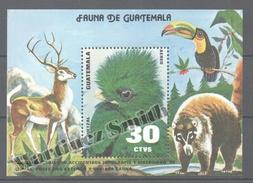 Guatemala 1979 Yvert BF 25, Fauna - Miniature Sheet - MNH - Guatemala