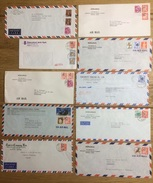 Japan, 10 Airmail Covers - Luchtpost