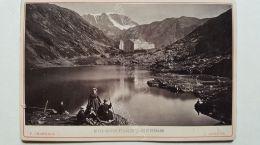 Photo CHARNAUX Frères  & Cie  Vers 1880 - GENÈVE - N°179 Hospice Et Lac Du Grand St Bernard - Anciennes (Av. 1900)