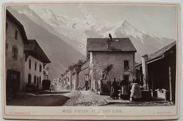 Photo CHARNAUX Frères  & Cie  Vers 1880 - GENÈVE - N°590 CHAMONIX ET LE MONT BLANC - Anciennes (Av. 1900)