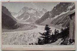 Photo CHARNAUX Frères  & Cie  Vers 1880 - GENÈVE - N°593 MER DE GLACE VUE PRISE DU MONT ENVERT - Anciennes (Av. 1900)