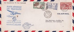18 Juillet 1940 - Enveloppe Avion De Noumea Vers Auckland, Nouvelle Zélande - 1e Traversée Pan American Clipper - Neukaledonien