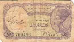 Egypte Billet De 5 Piastres - Egipto