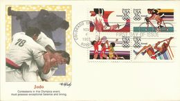 United States 1983 Los Angeles Olympic Games, Judo, Souvenir Cover - Estate 1984: Los Angeles