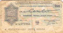 Italie Billet 100 Lires ( 1976 ) - Autres