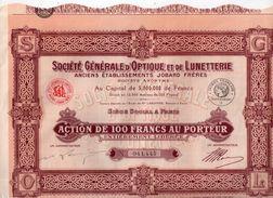 Société Générale D' Optique Et De Lunetterie - - Textile