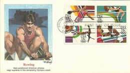 United States 1983 Los Angeles Olympic Games, Rowing, Souvenir Cover - Estate 1984: Los Angeles