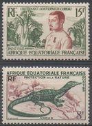 AFRIQUE  EQUATORIALE  FRANCAISE  N°230/231__NEUF* VOIR  SCAN - Nuevos