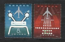 Chine China  1980 Yvert 2349/2350 ** Airport Aeroport International De Beijing Ref T.47 - 1949 - ... People's Republic
