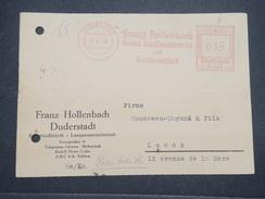 ALLEMAGNE - Affranchissement Mécanique De Duderstadf En 1938 Sur Carte Pour La France - L 9967 - Allemagne