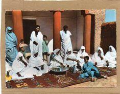 MAURITANIE  REPUBLIQUE ISLAMIQUE DE MAURITANIE Heure Du Thé  Trés Animée CPSM Grd Format Année 1960 - Mauretanien