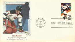 United States 1984 Sarajevo Winter Olympic Games, Ice Hockey, Souvenir Cover - Hiver 1984: Sarajevo