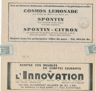 601/25 - Belgique Télégramme Publicitaire OOSTENDE 1932 - TOPIC Mineral Water And Lemonades SPONTIN - Meubles/Furniture - Alimentation