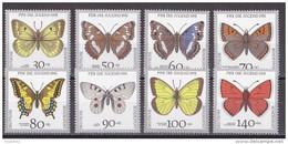Hmö_ Bund - Mi.Nr. 1512 - 1519 - Postfrisch MNH - Tiere Animals Schmetterlinge Butterflies - Vlinders