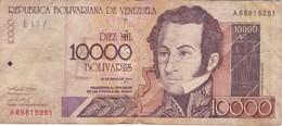 BILLETE DE VENEZUELA DE 10000 BOLIVARES DEL AÑO 2000 (BANKNOTE) - Venezuela