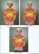 3 CPM - Coureurs Cyclistes - Seiz Hubert - Stefaan Vanleeuwe  - Rudy Dhaenens - Cycling