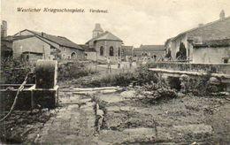 CPA - VERDENAL (54) - Aspect Du Quartier De L'Eglise En 1917 - France