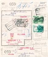 605/25 - NINOVE Cachets De Gare Sur Formule De Colis Avec Timbres Chemin De Fer 1947 - Expéd Sofilaine - 1942-1951