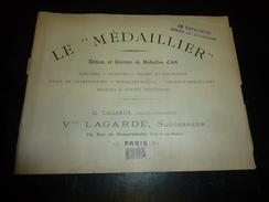 """Magnifique Catalogue Médailles Artistiques """" LE MEDAILLIER """" édition Et Gravure De Médailles D'art - PARIS 1903 - Cataloghi"""