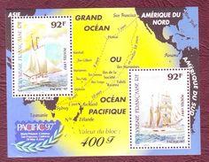 POLYNESIE 1997 - BF 22 - Liaison Maritime Sans-Francisco Papeete En Goélette - Neuf ** - Bateaux