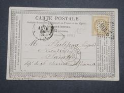 FRANCE - Carte Précurseur De Melle Sur Béronne En 1875 Pour Saintes , Affranchissement Cérès , GC 2305 - L 9971 - Entiers Postaux