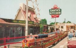 Santa Claus California Roadside Attraction Santa Village Miniature Train Ride Restaurant Pottery C1950s Vintage Postcard - United States