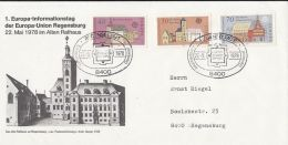 6031FM- REGENSBURG TOWN HALL, EUROPA, SPECIAL COVER, 1978, WEST GERMANY - [7] Federal Republic