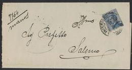 XB108    Regno 1924 Piego Da Nocera Inferiore  Michetti 25c  Annullo Frazionario 57-123 Per Salerno - 1900-44 Victor Emmanuel III