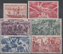 AFRIQUE  EQUATORIALE  FRANCAISE  N°PA 42/46et49__NEUF* VOIR  SCAN - A.E.F. (1936-1958)