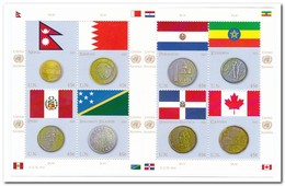 UNO New York 2015, Postfris MNH, Coins - New York - Hoofdkwartier Van De VN