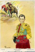 Carte Brodée - Pase De Rodillas GIRON - Illustrateur: Eloi Gumier - Brodées
