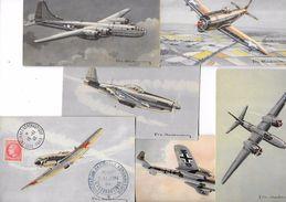 6 CPA Années 40 Illustrées Par  CHARBONNEAU - Avions LAGG DORNIER HAVOC MUSTANG THUNDERBOLT SUPER FORTERESS (4) - 1939-1945: 2ème Guerre