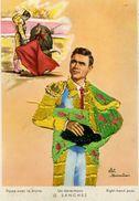 Carte Brodée - Un Derechazo G. SANCHEZ - Illustrateur: Eloi Gumier - Brodées