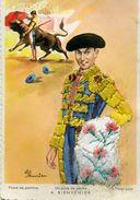 Carte Brodée - Un Pase De Pecho A. BIENVENIDA - Illustrateur: Eloi Gumier - Brodées