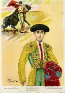 Carte Brodée - Una Mannoletina MANOLETE - Illustrateur: Eloi Gumier - Brodées